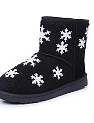 botas zapatos botas de nieve de las mujeres del talón plano a media pierna más colores disponibles