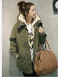 Casual Solid Color Long   Coat