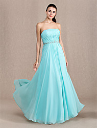 Formal Evening / Prom / Military Ball Dress - Pool Plus Sizes / Petite Sheath/Column Strapless Ankle-length Chiffon