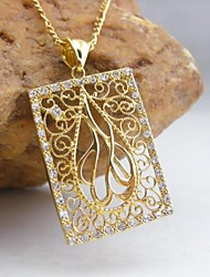 Necklace Pendant Necklaces Jewelry Wedding / Party / Daily / Casual Fashion Gold Plated Gold 1pc Gift