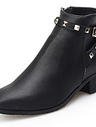 Women's Shoes Pointed Toe Fashion Boots Low Heel Ankle Boots