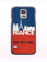 caja del teléfono personalizado - caja de metal francés paisaje diseño para el mini samsung galaxy s5