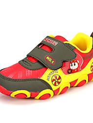 Sneakers de diseño ( Verde/Rojo/Naranja ) - Dedo redondo - Cuero sintético