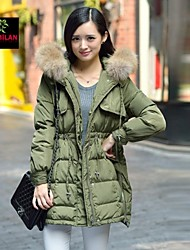 YIMILAN® Women's More New Warm Winter Military Outfit Raccoon Heavy Hair Down Jacket