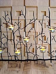 E-Home® Metallwandkunst Wand-Dekor, Filiale Leuchter Wanddekorgeschenk Kerzenbecher