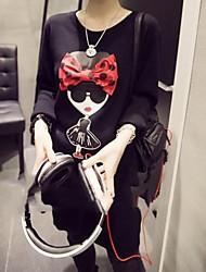 zian® Frauen schöne lange mit Schleife Pulli