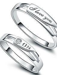 q-reizende koreanische Art und Weise Silber Ringe Paare