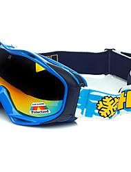 hb proteção quadro azul polarizada óculos de neve