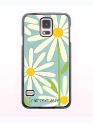 personalisierte Telefonkasten - weiße Blume Design-Metall-Gehäuse für Samsung Galaxy mini s5
