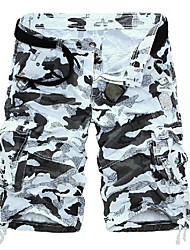 Men's Multi-pocket Camouflage Shorts