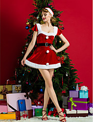 Performance Women's Christmas Costume Dress(Hat,Belt Included)