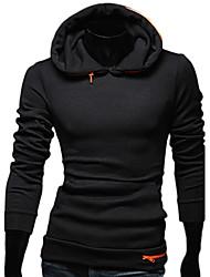 REVERIE UOMO Herren Schwarz Korean Slim Fit Hoodie Casual Fashion Hoodie