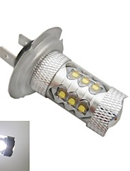 Cris h7 80w 6500k ledx16 lumière blanche -7000k ampoule led pour voiture (12-24, 1pc)