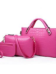 Frauen eleganter Normallack drei Stücke Tasche