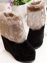 Der neue Winter 2014 europäischen und amerikanischen Mode hochhackigen kurze Stiefel weibliche Wildleder zuxiu Frauen 88 schwarz