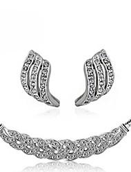 WEIMEI Women's Temperament Rhinestone Statement Elegance Fashion Necklace Earrings Suits