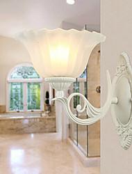 lampe de mur de peinture de fer gracieux