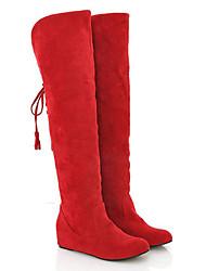 plus size bandas de volta botas longas de inverno vermelho