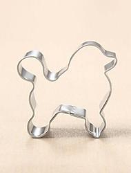 Pudel Hund Form Ausstecher, l 6.8cm x B 7cm x H 2,5 cm, Edelstahl