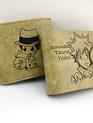 Reborn! Tsunayoshi Sawada Leather Wallet Cosplay Accessory