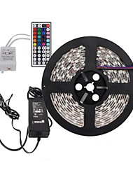 5m 300x5050 smd rgb luz conduzida da tira e controle remoto 44key e 6a-nos fonte de alimentação (AC110-240V)