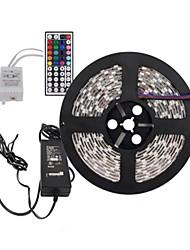 5m 300x5050 SMD RVB LED Light Strip et 44key télécommande et 6a au alimentation (AC110-240V)