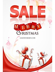 Personalized Christmas Cards 50pcs Vertical Flat Sale Pattern 2 Sides Colorful Printing of Fine Art Paper