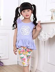 Girl's Clothing Set Cotton Summer