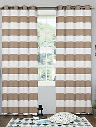Designer Two Panels Geometric ture Bedroom Polyester Panel Curtains Drapes