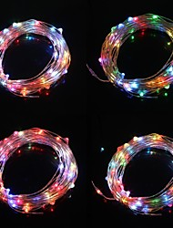 10m 9.6W 100 lampe led sept lumière de couleur flash de Noël de lumière de bande (DC 12V, câble en cuivre)
