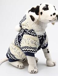Hunde Kapuzenshirts Rot / Blau Hundekleidung Winter Schneeflocke Weihnachten / Neujahr