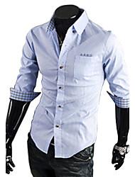 Camisa Casual(Algodão / Poliéster)MEN-Casual