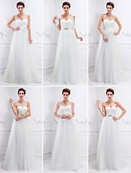 Vestido de Boda - Marfil Corte Columna Barrida - Sweetheart Tul