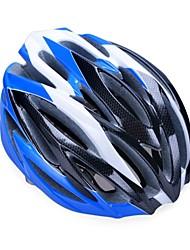 moda cómoda seguridad + y casco de bicicleta de alta transpirabilidad (31 tiros) - negro + azul + plata