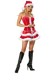 Women's Christmas Costume Sexy Sweet Short Gallus Dress Set