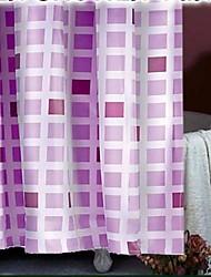 Griglia viola tenda della doccia in poliestere