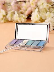 Matte éblouissante 6 couleurs professionnelle&miroitement 3in1 fard à paupières palette de maquillage cosmétique