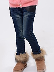 Girl's Cotton Jeans , Winter