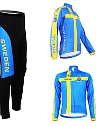 KOOPLUS Unisex Spring Autumn Customized Cycling Clothing Sweden Long Sleeve Jersey And Pants Polyester Cycling Suit