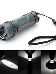 Pange Multifunction Cree Q5 300LM 3-Modes Rotate Zoomable Cool White LED Flashlight (1 x 14500)