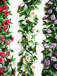 "95""L 2Pcs Nine Beautiful Flowers in Roses Bine(Assorted Colors)"