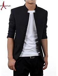 casaul delgado cuello alto traje túnica chino chaqueta de walk®men Manwan.