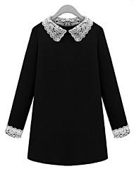Mufans Women's Lace Collar Big Size Dress #1455
