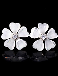Women's Alloy Acrylic Flower Stud Earrings