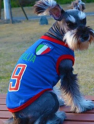 Fashionable Italy Football Team Pattern Vest for Pet Dogs(Assorted Sizes)