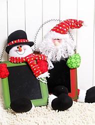 porta colorido pendurado natal pode escrever decoração do Natal