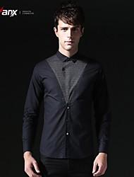 Genanx® Mens Black stitching self-cultivation shirt D145