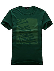 Summer Hot Sale Short Sleeves Man's T-shirt Dark Green