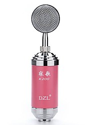 Dzl K200 Wired Condenser Microphone Sound Recording Equipment for Computers and Karaoke