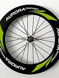 AURORA RACING 700c 88mm Tubular carbon wheels with 23mm width